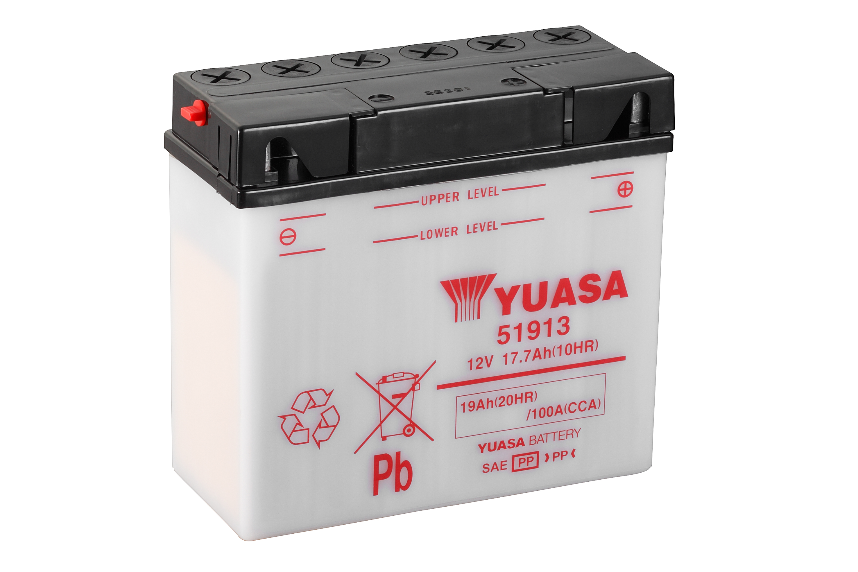 yuasa motorcycle battery 51913 12v 19 20hr from county. Black Bedroom Furniture Sets. Home Design Ideas