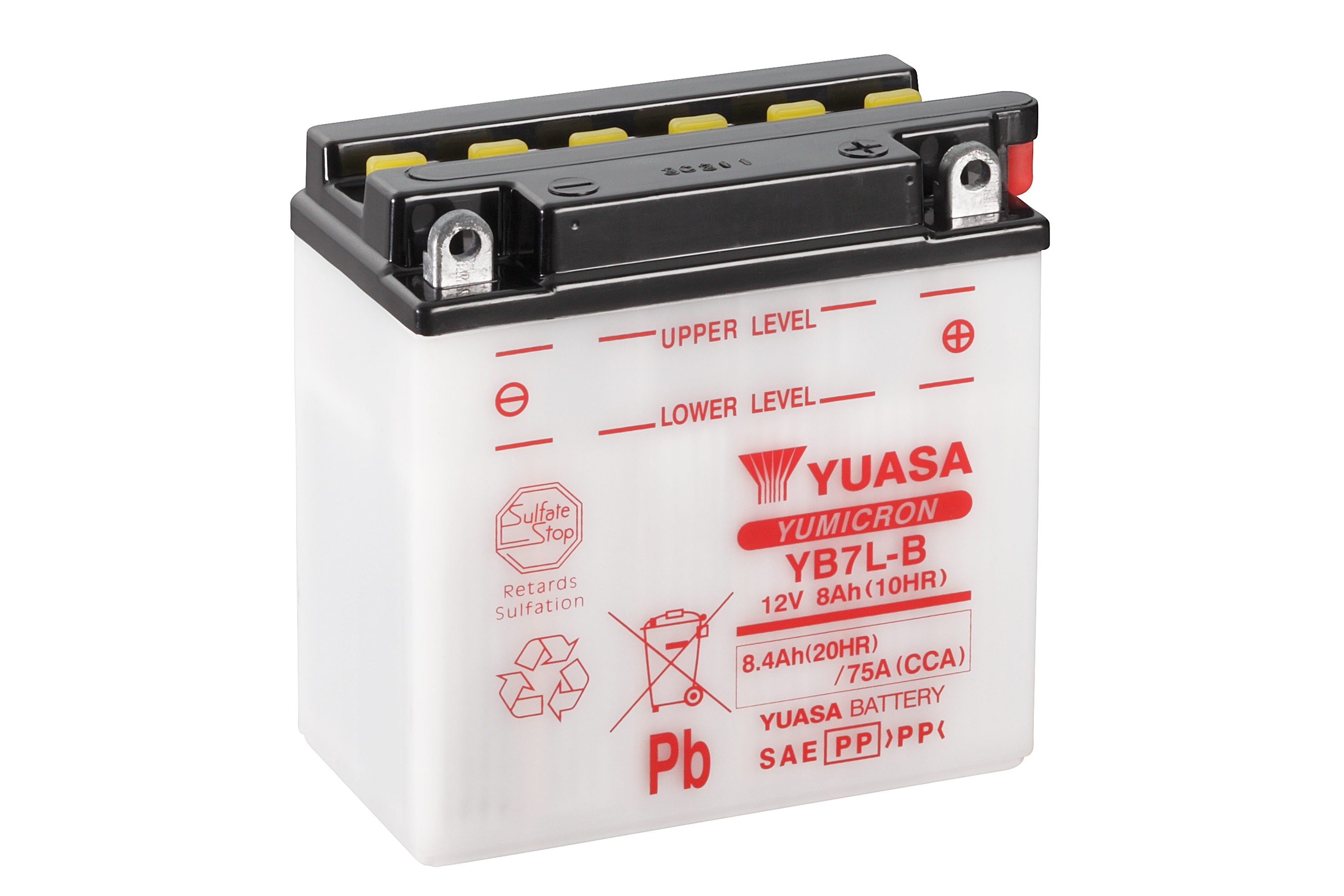 yuasa motorcycle battery yb7l b 12v 8ah from county battery. Black Bedroom Furniture Sets. Home Design Ideas