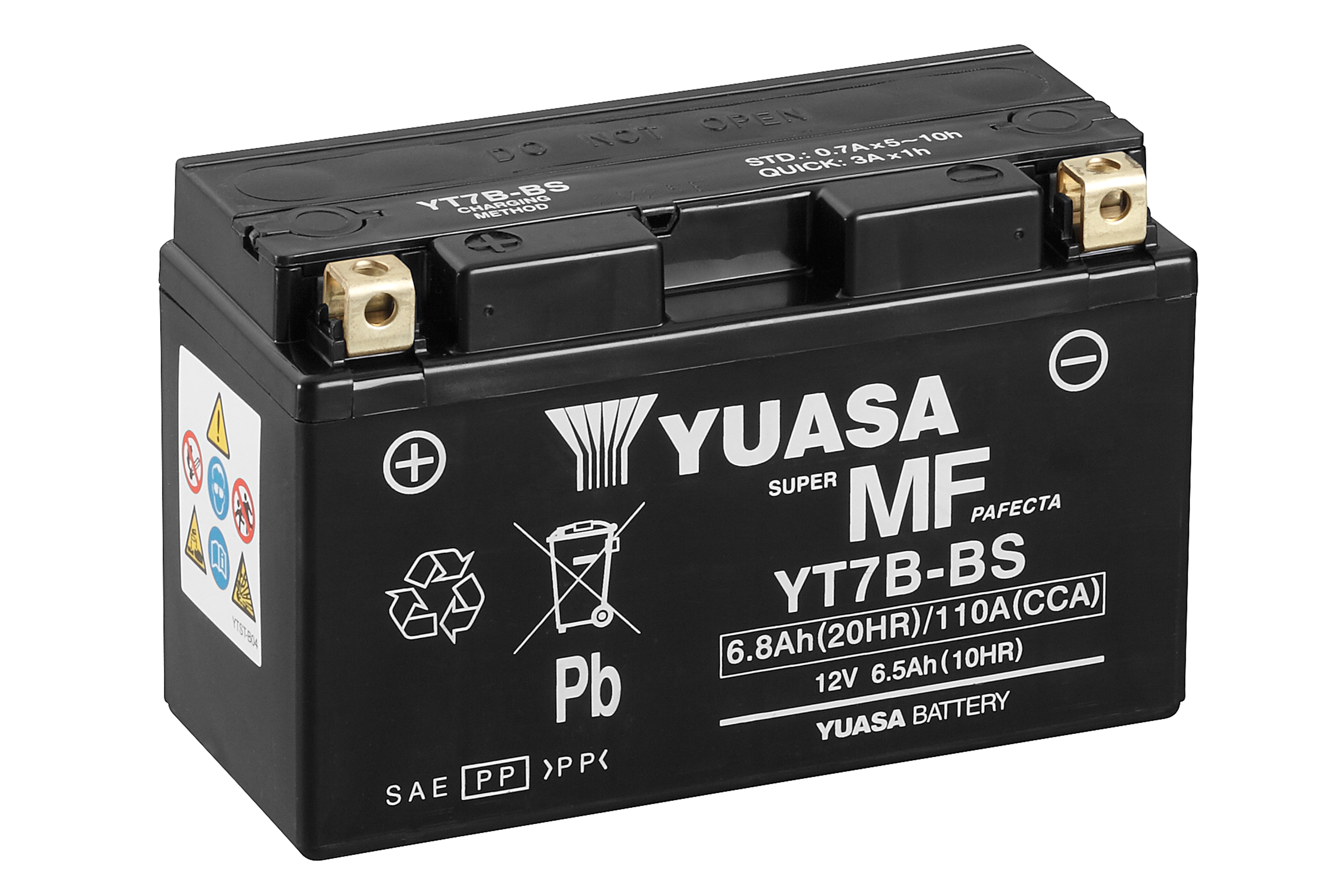 yuasa motorcycle battery yt7b bs 12v 6 5ah from county battery. Black Bedroom Furniture Sets. Home Design Ideas