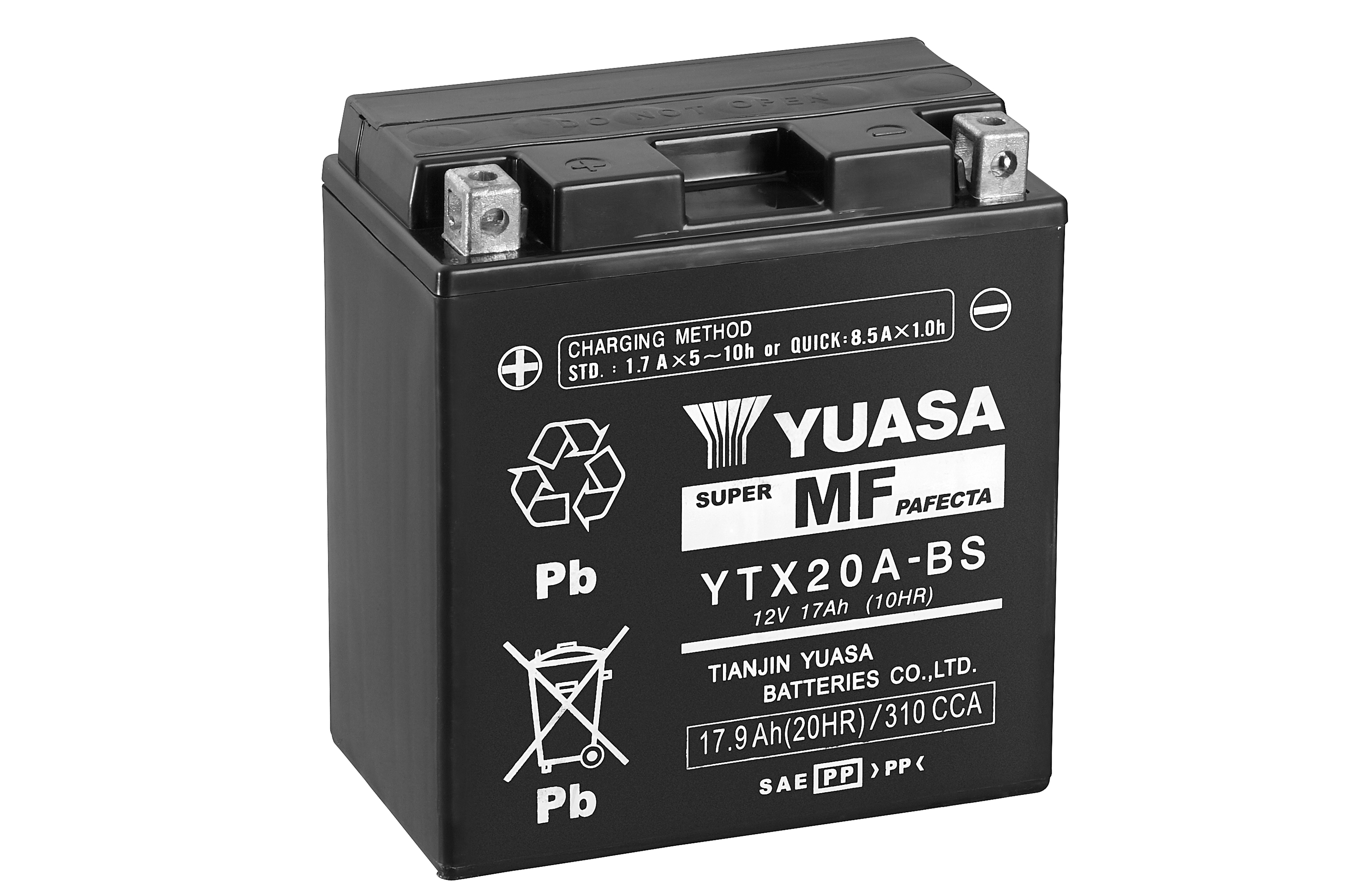 Yuasa Motorcycle Battery Ytx20a Bs 12v 17a From County Battery