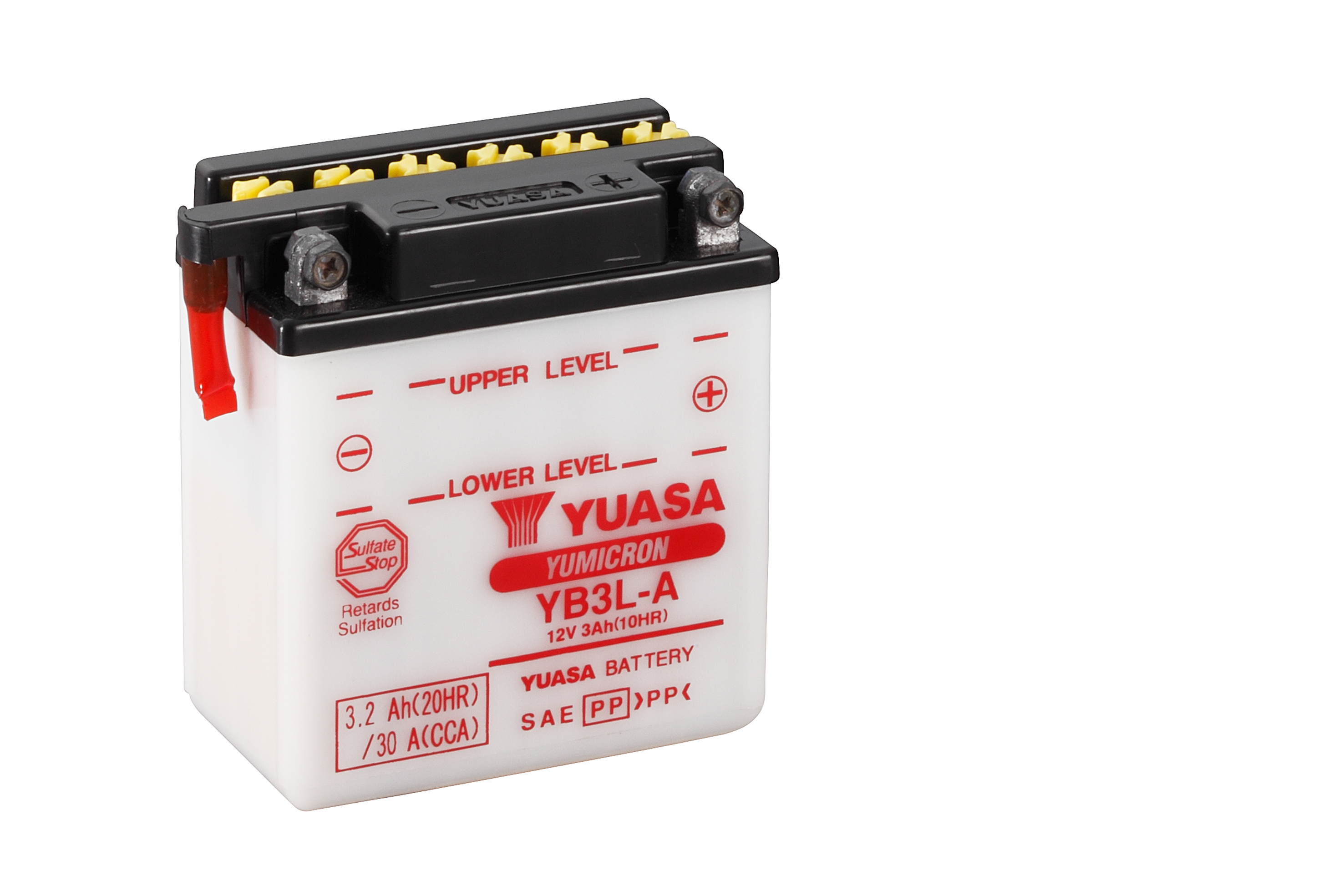 yuasa motorcycle battery yb3l a 12v 3ah from county battery. Black Bedroom Furniture Sets. Home Design Ideas