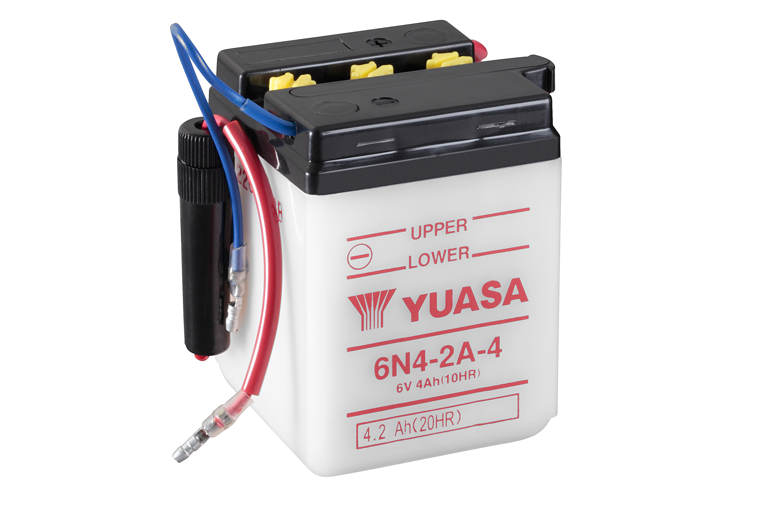 yuasa motorcycle battery 6n4 2a 4 6v 4ah from county battery. Black Bedroom Furniture Sets. Home Design Ideas