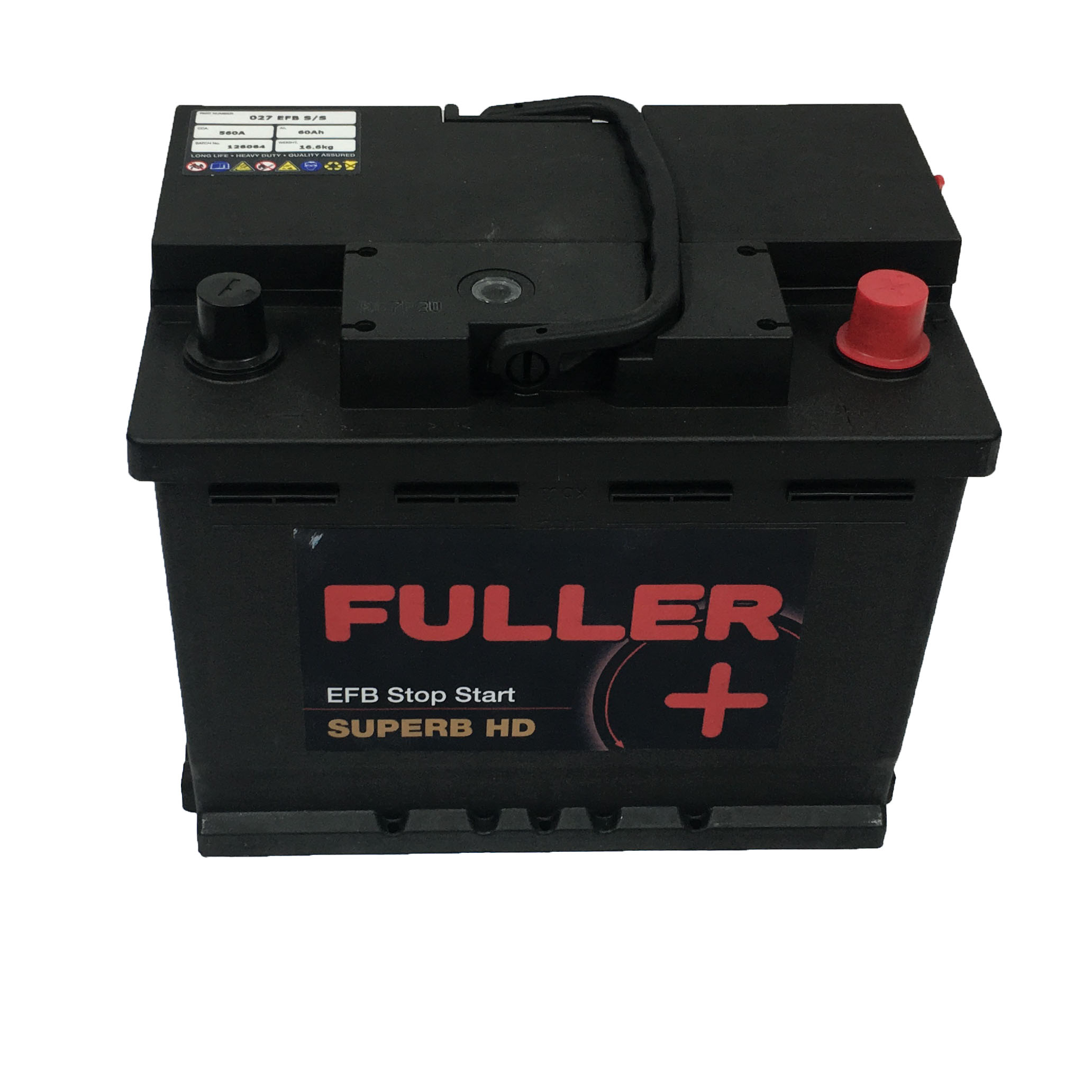 Fuller Superb Efb Stop Start 027 12v 60ah 560a Car Battery