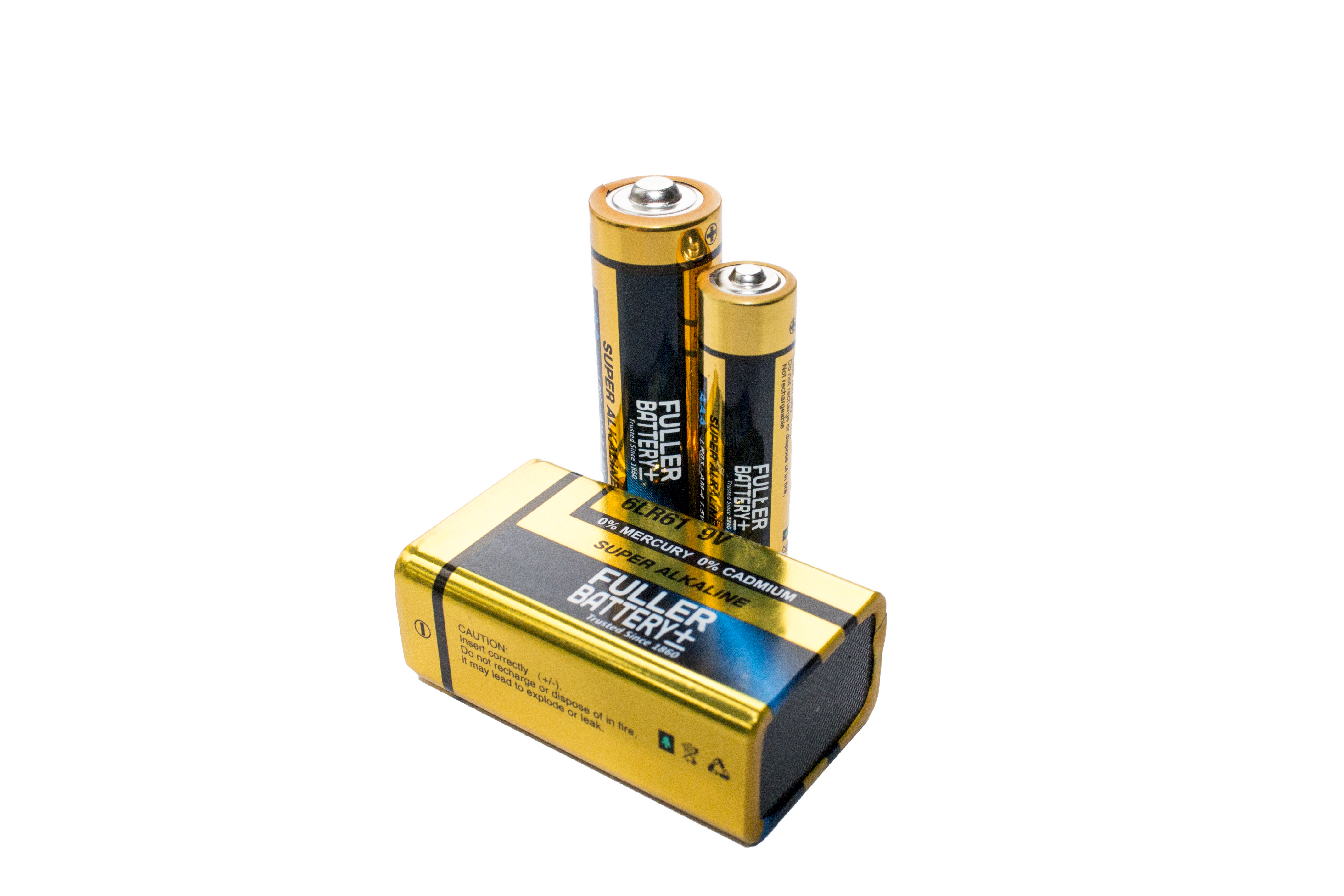 Fuller AA, AAA and PP3 Batteries