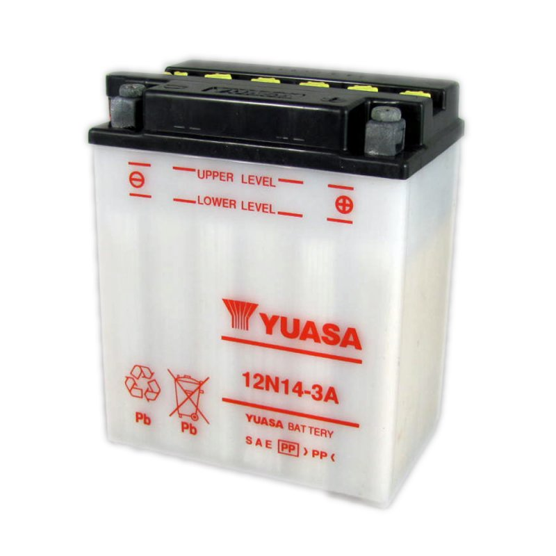 yuasa motorcycle battery 12n14 3a 12v 14ah from county battery county battery. Black Bedroom Furniture Sets. Home Design Ideas