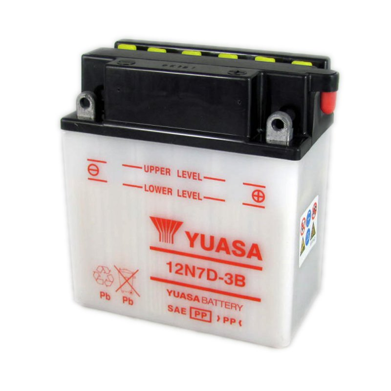 yuasa motorcycle battery 12n7d 3b 12v 7ah from county battery county battery. Black Bedroom Furniture Sets. Home Design Ideas