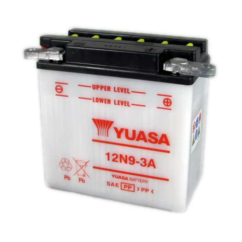 yuasa motorcycle battery 12n9 3a 12v 9ah from county. Black Bedroom Furniture Sets. Home Design Ideas