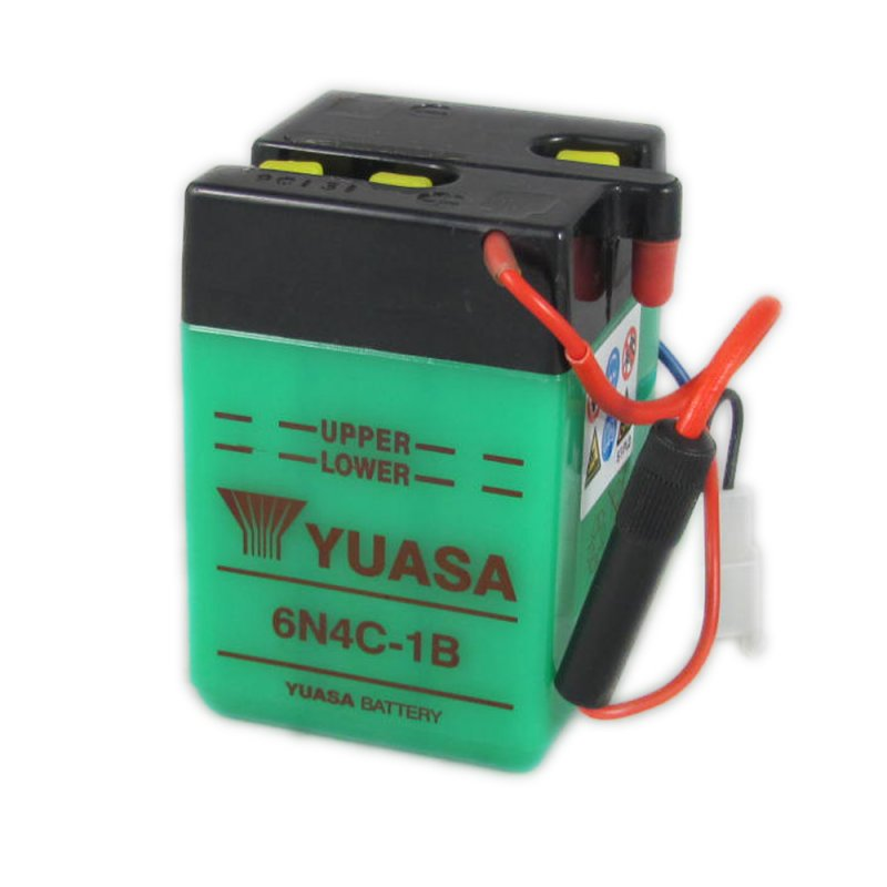Yuasa Motorcycle Battery 6n4c 1b 6v 4ah From County