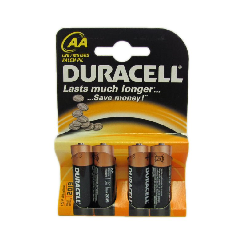 duracell aa cell battery pack of 4 mn1500 county battery. Black Bedroom Furniture Sets. Home Design Ideas