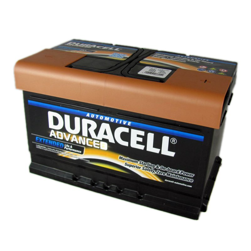 Duracell Advanced Car Battery 100 DA72 From County Battery