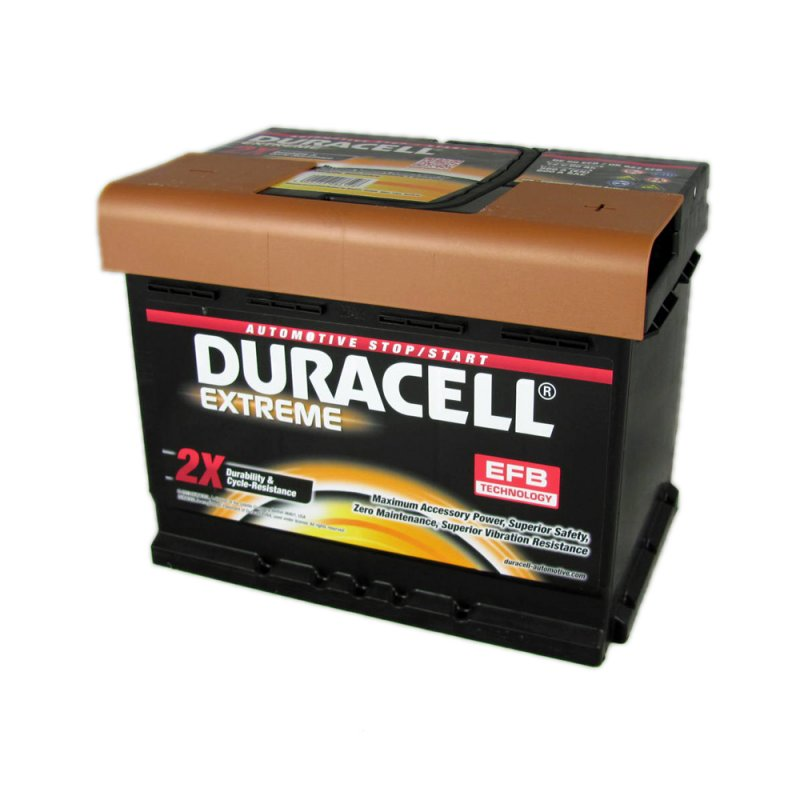 Duracell Extreme Car Battery 027 EFB DE60 From County