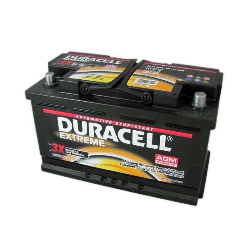 Duracell Extreme Car Battery 110 AGM DE80 From County