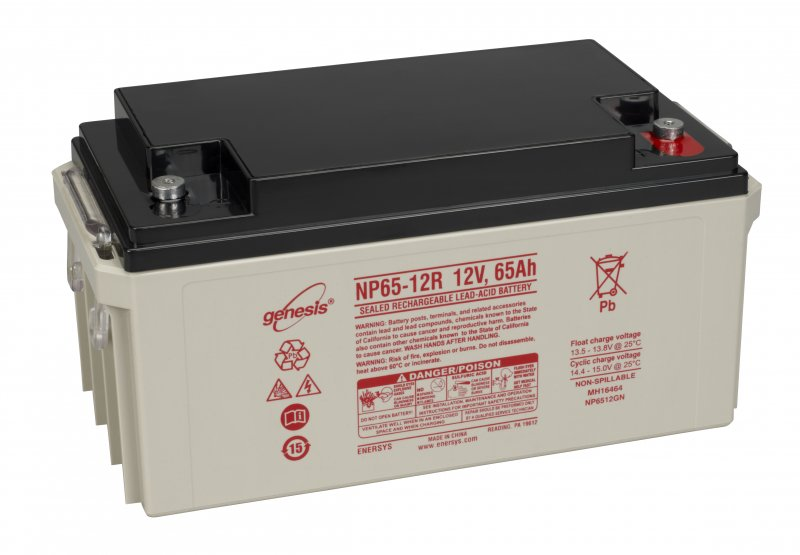 enersys genesis np65 12 vrla 12 volt 65ah battery county battery. Black Bedroom Furniture Sets. Home Design Ideas