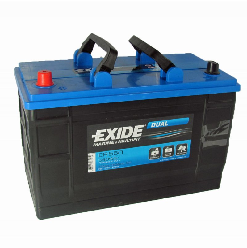 exide er550 leisure battery 115ah 12v from county battery. Black Bedroom Furniture Sets. Home Design Ideas