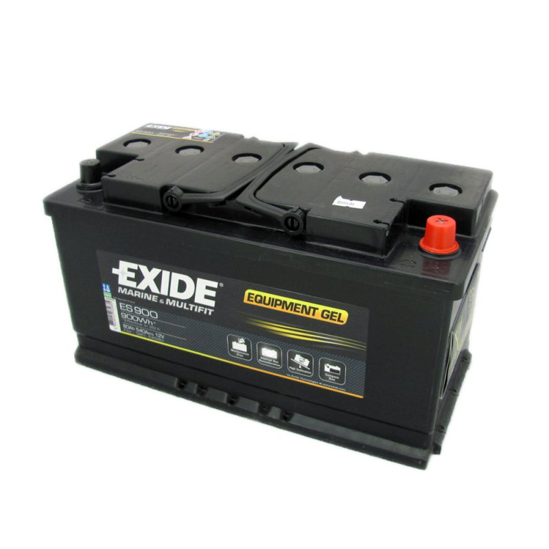 exide es900 gel leisure battery 80ah 12v from county. Black Bedroom Furniture Sets. Home Design Ideas