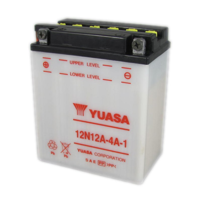 yuasa battery 12n12a 4a 1 12v 12ah from county battery. Black Bedroom Furniture Sets. Home Design Ideas