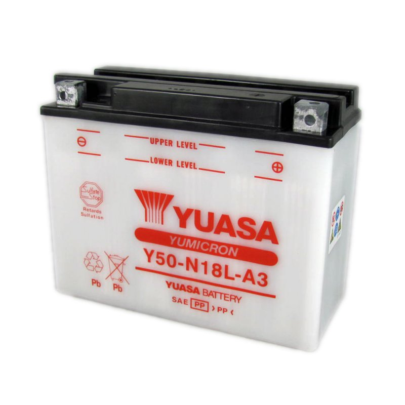 Yuasa Motorcycle Battery Y50 N18l A3 12v 20ah From County