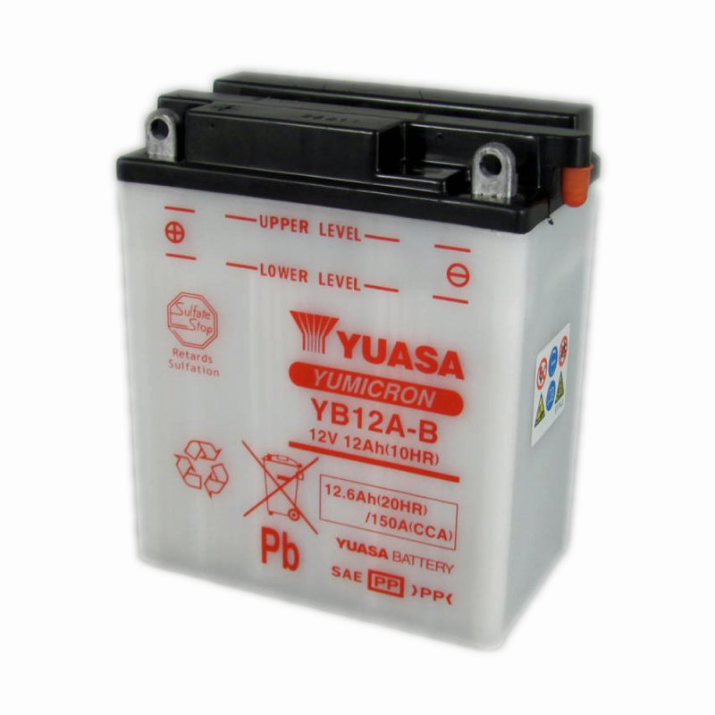 yuasa motorcycle battery yb12a b 12v 12ah from county. Black Bedroom Furniture Sets. Home Design Ideas