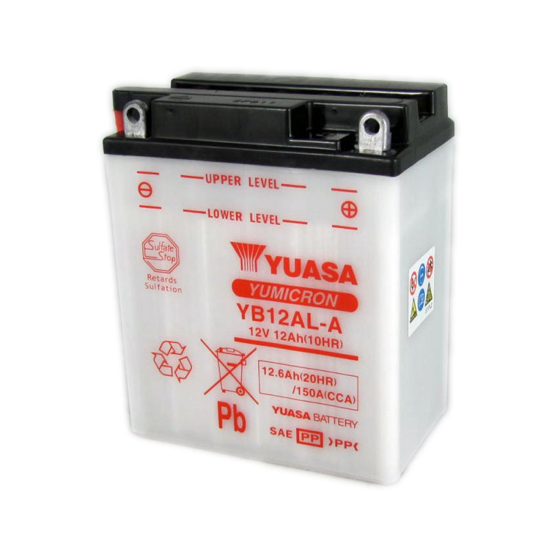 yuasa motorcycle battery yb12al a 12v 12ah from county. Black Bedroom Furniture Sets. Home Design Ideas