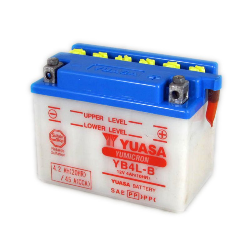yuasa motorcycle battery yb4l b 12v 4 0ah from county. Black Bedroom Furniture Sets. Home Design Ideas
