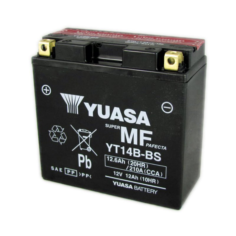 yuasa motorcycle battery yt14b bs 12v 12a from county. Black Bedroom Furniture Sets. Home Design Ideas