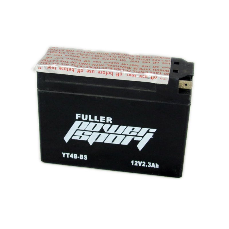 fuller powersport motorcycle battery yt4b bs 12v 2 3ah county battery county battery. Black Bedroom Furniture Sets. Home Design Ideas