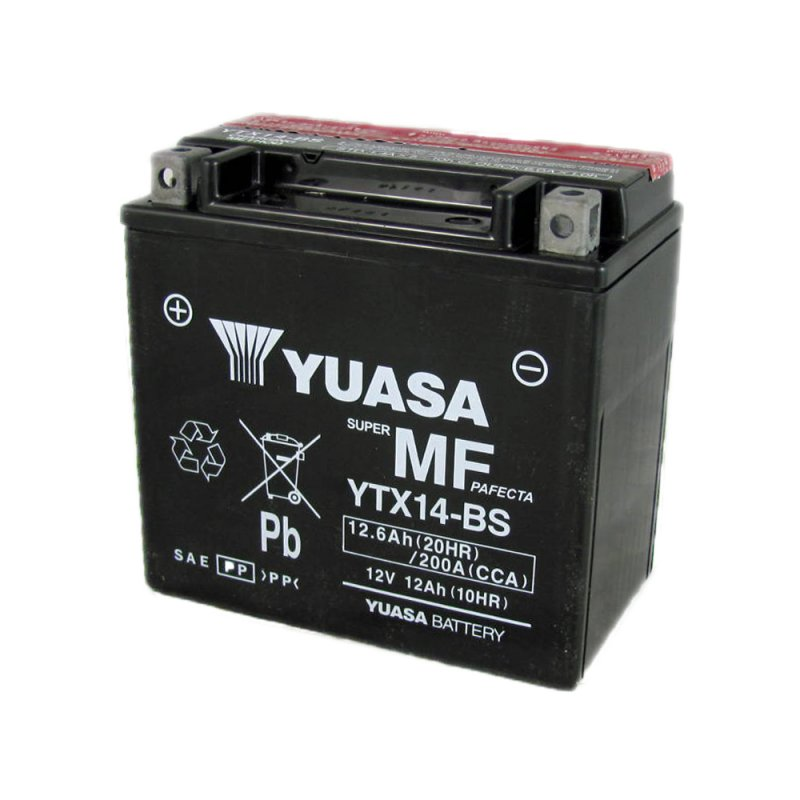 Yuasa Motorcycle Battery Ytx14 Bs 12v 12 0ah From County