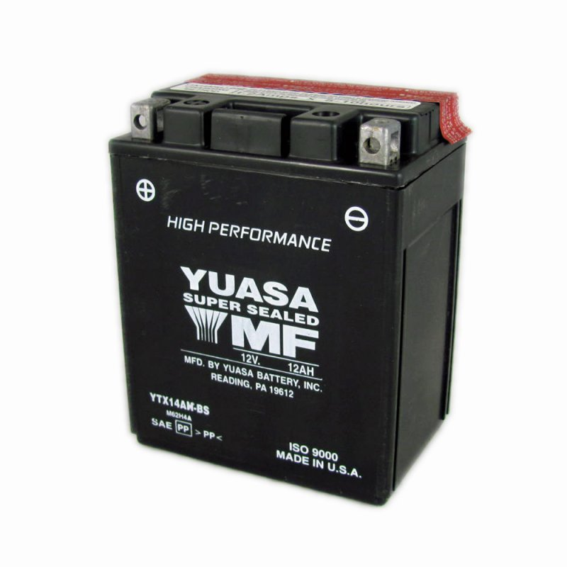 Yuasa Motorcycle Battery Ytx14ah Bs 12a From County
