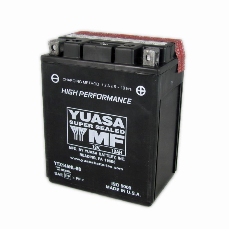 yuasa motorcycle battery ytx14ahl bs 12v 12ah from county. Black Bedroom Furniture Sets. Home Design Ideas