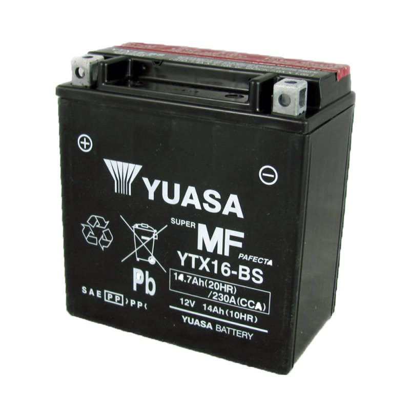 Yuasa Motorcycle Battery Ytx16 Bs 12v 14a From County
