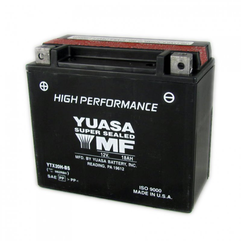 Yuasa Motorcycle Battery Ytx20h Bs 12v 18a From County