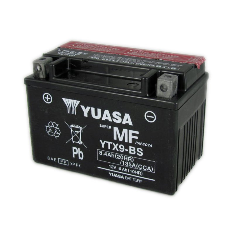 Yuasa Motorcycle Battery Ytx9 Bs 12v 8 0ah From County