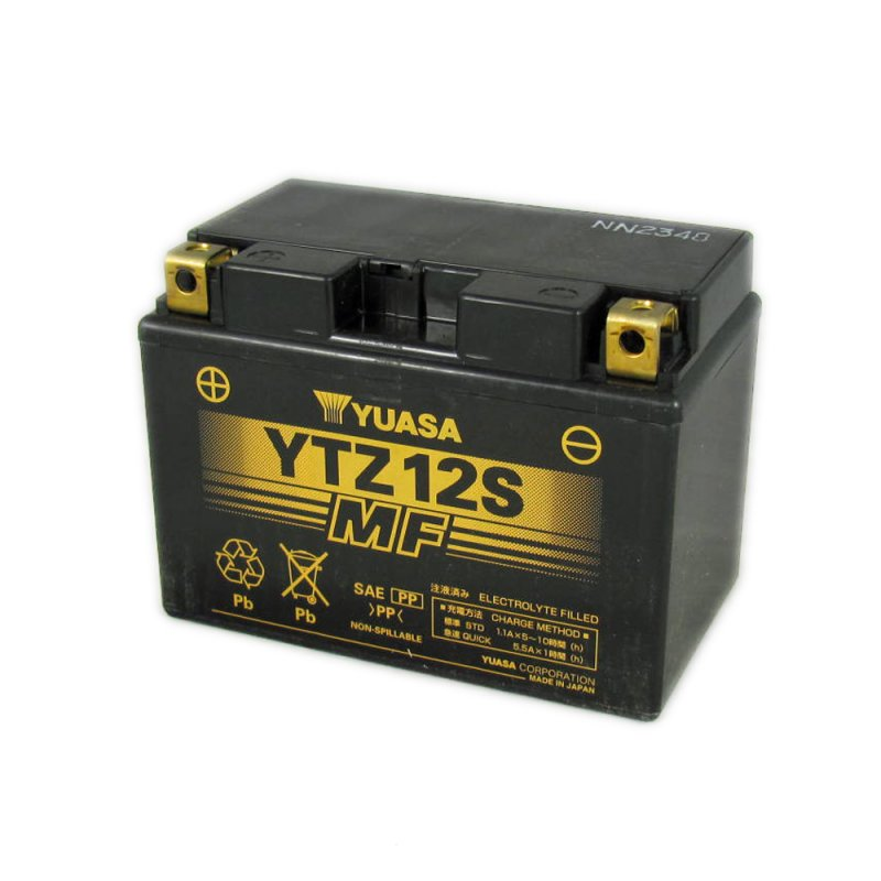 Yuasa Motorcycle Battery Ytz12s 12v 11a From County