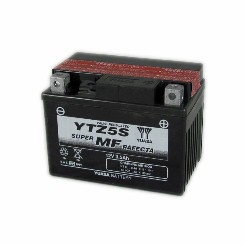 yuasa motorcycle battery ytz5s bs 12v 3 5a from county battery county battery. Black Bedroom Furniture Sets. Home Design Ideas